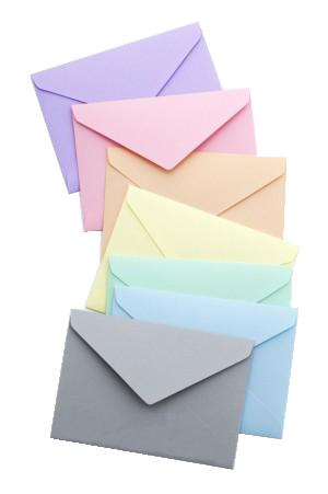 Enveloppes couleur